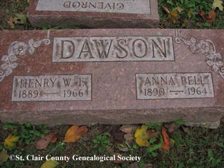 Dawson, Henry W. T and Anna Bell