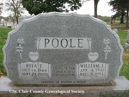 Poole, Rita E and William L