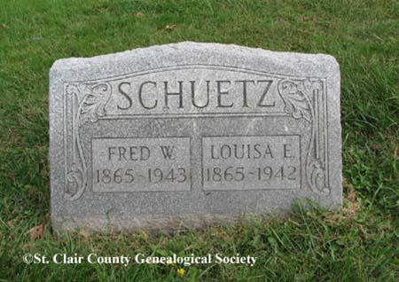 Schuetz, Frederick W and Louisa E
