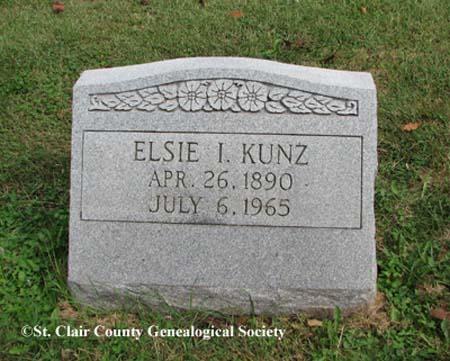 Kunz, Elsie I