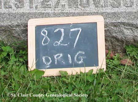 Lot marker – Orig 827