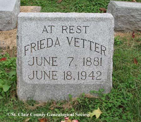 Vetter, Frieda