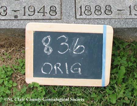 Lot Marker – Orig 836