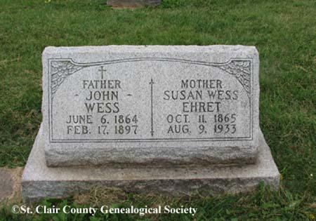 Wess, John and Ehret Susan Wess