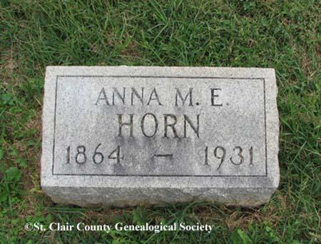 Horn, Anna M E