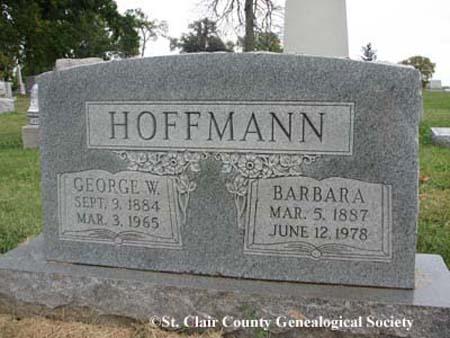 Hoffmann, George W and Barbara