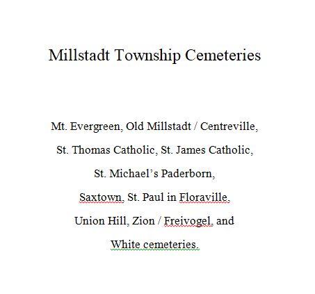 Millstadt Township Cemeteries-img