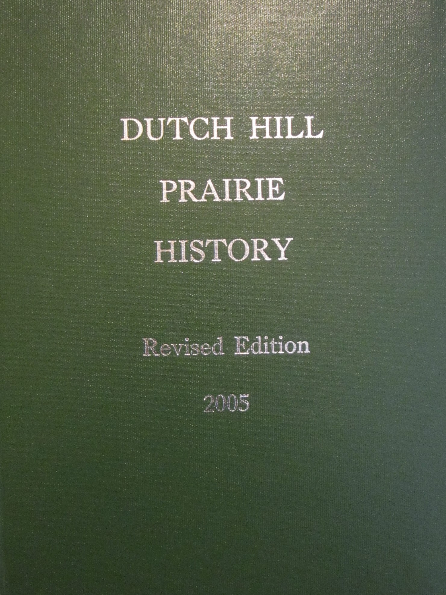 Dutch Hill Prairie land is in the southeastern part of St. Clair County, Illinois. The land lies in Township 3 South Range 7 West 3rd P.M. , and called Lenzburg Township.