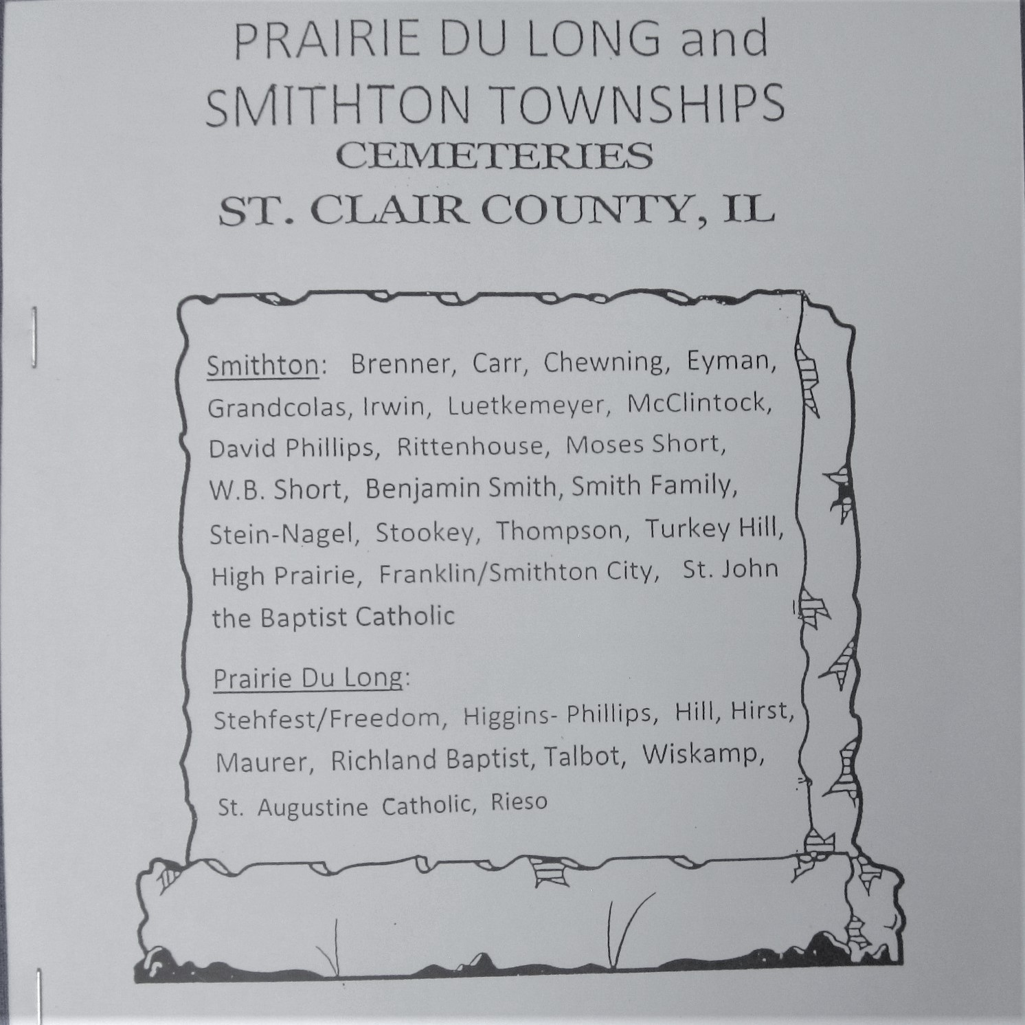 Prairie du Long and Smithton Townships Cemeteries